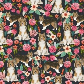sheltie floral fabric shetland sheepdog fabrics sheltie dog design best vintage florals fabric