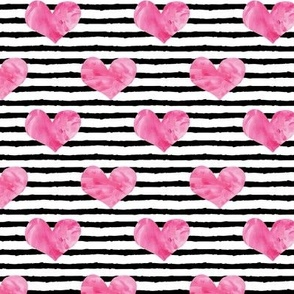 watercolor hearts || stripes 2