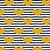 gold heart || stripes