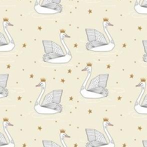 princess swan // pastel andrea lauren fabric swan