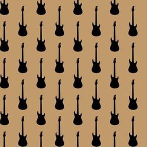 Black Electric Guitars on Camel Brown