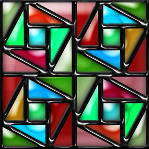 Pythagorean Stained Glass