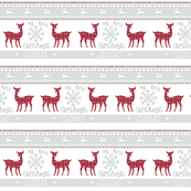 first christmas 7 - berry deer snowflakes - mist