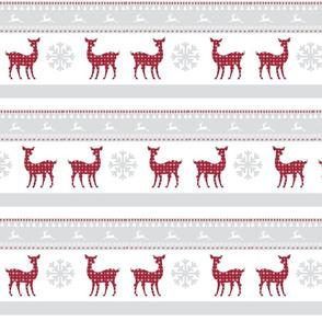 Harbour christmas 7 - berry deer snowflakes - mist