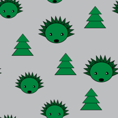 Hedgehogs and pine trees