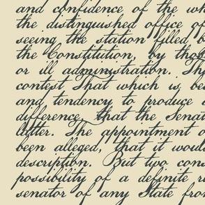 "Federalist Paper #68 - Alexander Hamilton - 42"" wide"