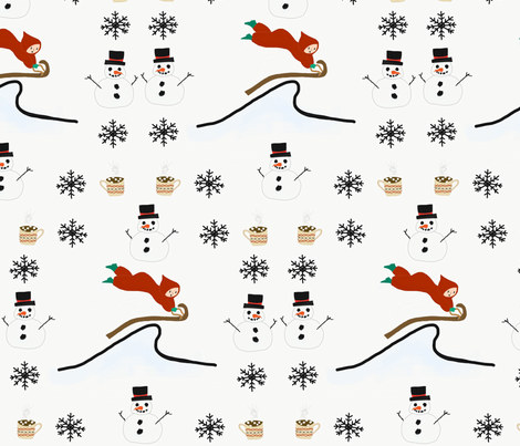 Little boy 39 s snow day fabric madgirl24 spoonflower for Little boy fabric