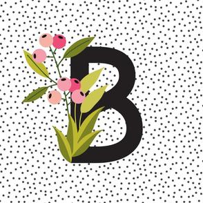 Garden Letters - Letter B