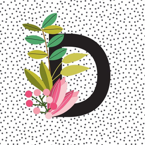 Garden Alphabet - Letter D