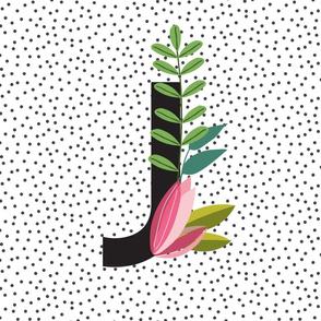 Garden Letters - Letter J