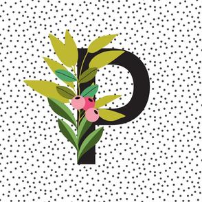 Garden Alphabet  - Letter P