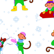 Monkey Snow Day