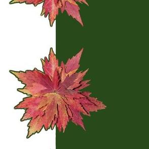 Autumn Leaf Poinsettias Small Tablecover