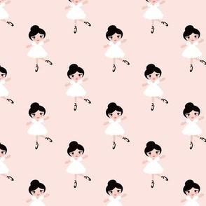 Sweet ballerina ballet dancing girls sweet kids print blush pink