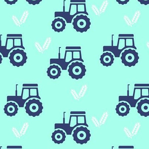 tractor and wheat