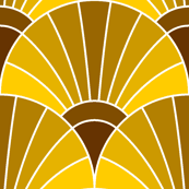 art deco fan scale : caramel egg golden brown