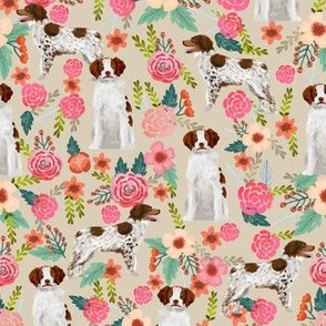brittany spaniel floral dog fabric cute dog fabrics