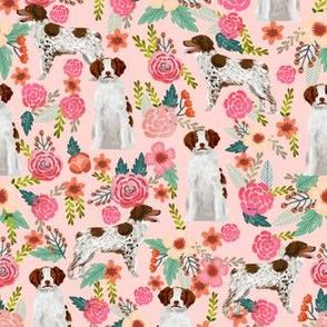 brittany spaniel dog fabric florals fabric dog design