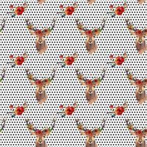 """Deer in Love - 2"""" Polka Dots"""