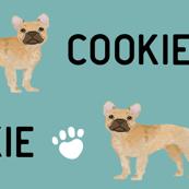 french bulldog fawn dog fabric customizable pet name fabric contact petfriendlydesigns@gmail.com to customize