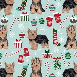 yorkie christmas dog fabric christmas dogs fabric yorkshire terrier dogs