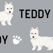 westie custom name fabric custom pet name fabric contact petfriendlydesigns@gmail.com to customize