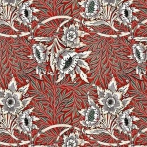 Morris Tulip Willow Red