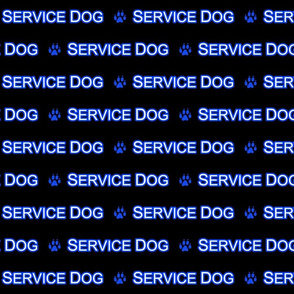 Basic Service dog text - blue