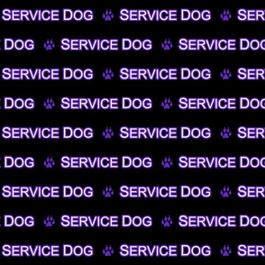 Basic Service dog text - purple