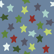 Nautical stars (sea blue)