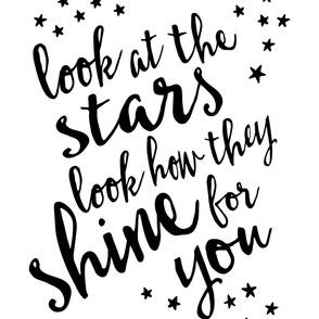 2 yard minky - Look at the stars blanket