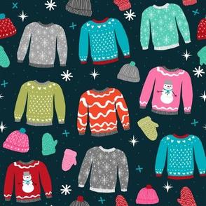 snow day sweaters winter fabric sweater design