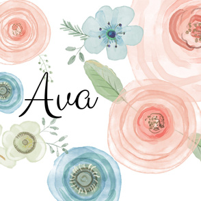 Ava Watercolor Flowers
