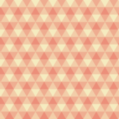 peaches and cream triangle gingham
