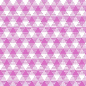 butterfly pink triangle gingham