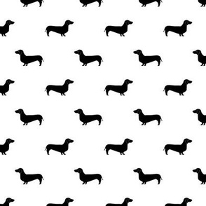 bw dachshund silhouette fabric doxie design dachshunds fabric