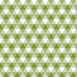 moss green triangle gingham