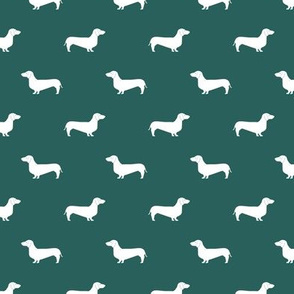 eden green dachshund silhouette fabric doxie design dachshunds fabric