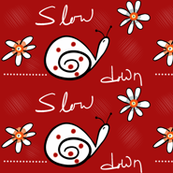 Slow_Down_Snail_red