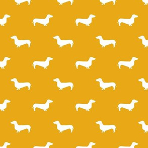 golden dachshund silhouette fabric doxie design dachshunds fabric