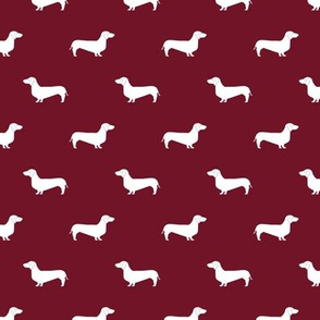 ruby red dachshund silhouette fabric doxie design dachshunds fabric