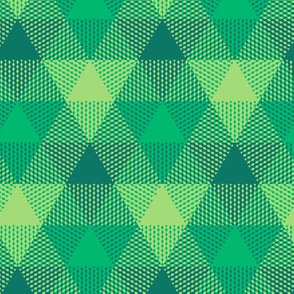 Serene green triangle gingham