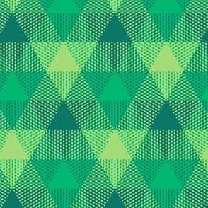 Serene green triangle gingham
