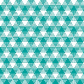 teal fisherman's triangle gingham