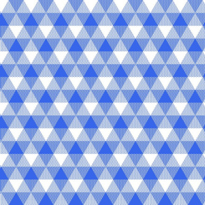 blue and white fisherman's triangle gingham