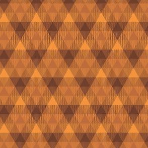 triangle gingham - bronze, brown, copper
