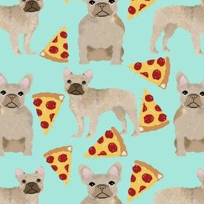 french bulldog pizza fabric fawn frenchie pizzas frenchie dog