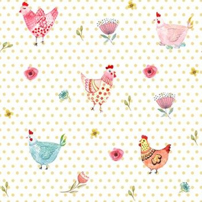 Polka Dot Girls - Yellow