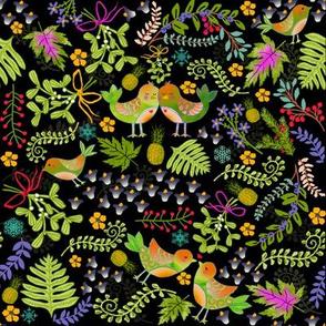 Mistletoe Love Birds