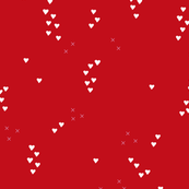 Romantic love and cupid xoxo valentine print red